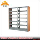 Double Side 6 Tier College Powder Coated Steel Iron Cheap Used Library Bookcases Metal School Bookshelf
