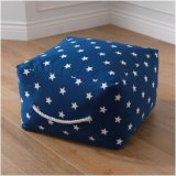 Square Pouf Ottoman for Fashion Design Stool/ Bean Bag Ottoman with Ykk Zipper