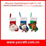 Christmas Decoration (ZY16Y186-1-2-3 18CM) Santa Claus Cutlery Socks