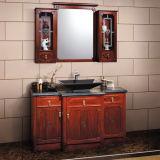 Oppein Chinese Style Red Solid Wood Bathroom Vanity (OP13-032-160)