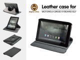 360 Degree Rotary Leather Case for Motorola Droid Xyboard 8.2 Inch Tablet Rotating Stand Book Cover