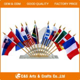 Customized Waving Country or Company Logo Printing Polyester Table Flag, Hand Flag