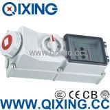 Industrial Socket with Interlock Switch and Break (QX5946)