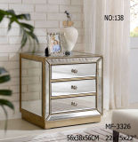 Hot Sell Antique Silver 3 Drawer Night Stand Cabinet