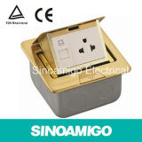 Pop-up Floor Box with Power Sockets and Data Outlet