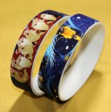 Custom 1 Inch High Definition Digital Printing Silicone Wristband