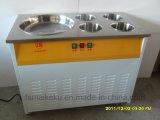 Single Flat Pan with 4 Barrels Fry Ice Cream Machine