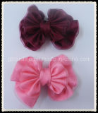 Beautiful Handmade Ribbon and Organza Hair Bow (BBA-0014)