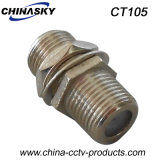 CCTV Double Female F Connector with Screw Nut (CT105)