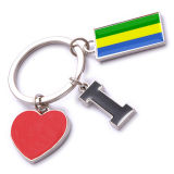 New Custom Metal Souvenir Gabon Keyring