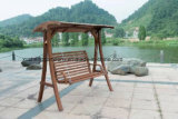 Modern Style Outdoor Wooden Swing Chair