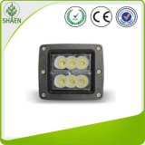 Square 24W CREE Spot Flood Beam LED Work Light