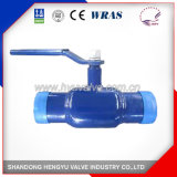 Industrial Cast Iron Full Welded Ball Valve with Handlever
