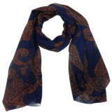 Lady Fashion Polyester Voile Scarf (YKY4208)