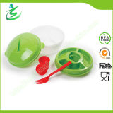 Plastic Salad Bowl with Fork& Dressing Container