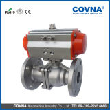Stainless Steel 2 Way Pneumatic Control Flange Ball Valve China Supplier