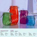 Different Color Clip Cap Glass Jar