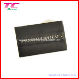 Jeans Leather Label with Metal Logo