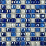 Glass Tile Crafts White & Blue Wall Decoration