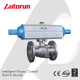 Pneumatic Flange Ball Valve with Three Position Actuator