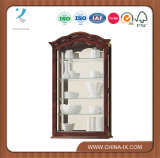 Curio Wall Cabinet 4 Adjustable Shelves Mirrored Back