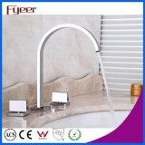 Fashion 3 PCS Set Widespread Basin Faucet Bathroom Mixer Taps