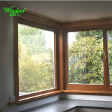 Casement Style Double Glazing Glass Aluminum Wood Window