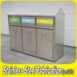 Keenhai Wholesale Recycle Large Outdoor Stainless Steel Dustbin
