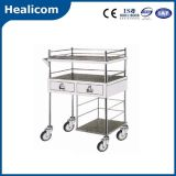 Stainless Steel Medicative Cart Hospotal Trolley for Medicine Change