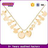Custom High Quality 18k Gold Zinc Alloy Necklace Logo Tags Necklace