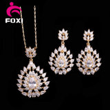 Wholesale Environmental Copper Plated 18k Gold CZ Jewelry Sets