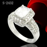 Hotsale 925 Steling Silver Micro Setting Ring with Big Zircon.