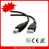 New 10ft USB 2.0 a Male to B Male Printer Silver Cable