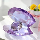 Crystal Glass Shell with Diamond Craft for Gift