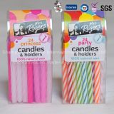 Singing Happy Birthday Double Layer Taper Candle with High Class Certificates