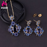 Blue Stone Design CZ 18k Gold Fashion Jewelry Sets for Friends Gift