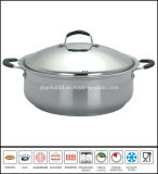Big Stainless Steel Low Casserole