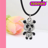 2016 Fashion New Arrival Bear Crystal Necklace / Panda Silver Necklace