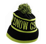 2017 Fashion Skiing Knit Black Winter Beanie Cap