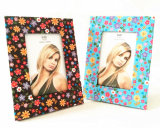 Flower Patterned Leather Picture Frames
