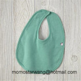 100% Cotton Wholesale Promotional Baby Bib with Solid Colour