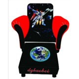 Space Superman Children Furniture/Kids Leather Sofa and Stool (SF-128)
