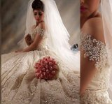 Lace Wedding Ball Gown off Shoulder Beaded New Bridal Wedding Dress H20175