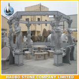Stone Gazebo Garden Decoration with Carving