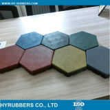 Kinds of Hexagon Rubber Tile with Drain on Bottom