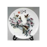 Chinese Porcelain Painting Porcelain Plate Lw587