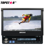 One DIN 7 Inch Retractable Screen Car DVD Player