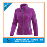 Women Slim Fit Fleece Jacket with Custom Logo Embroidery
