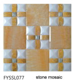 Whie Mixed Beige Natural Stone Marble Mosaic as House Building Material Wall (FYSSL077)
