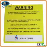 Printed Aluminium Warning Sign Board with Adherent Sponge